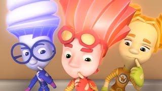 Смотреть сериал Zeichentrickfilme für Kinder - Die Fixies - Compilation 9 - Fünf Folgen онлайн