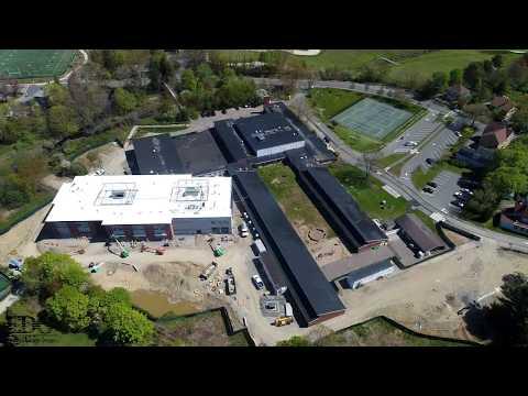 Manchester Memorial Elementary School Drone Construction Progress