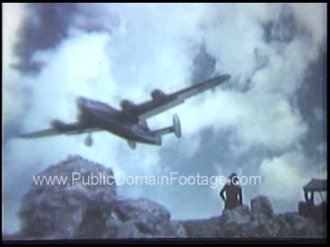 TARGET SHANGHAI B-24 Bombers drop payload on China during WWII raw archival footage