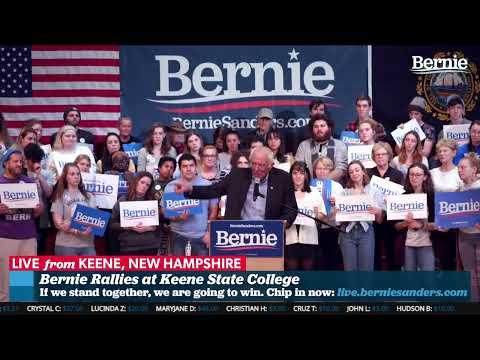 Bernie Rallies At Keene State College