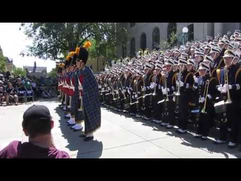 Notre Dame Marching Band - Concert on the Steps 9-2-17 (Temple Game)