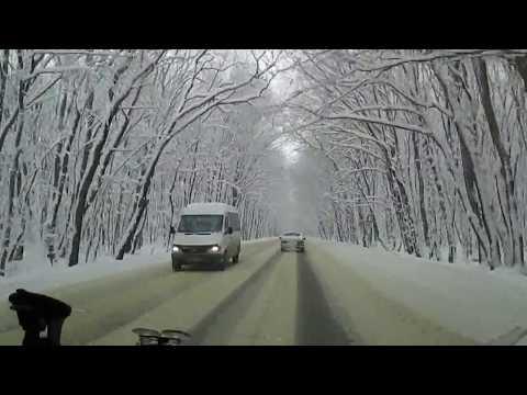 Зимняя дорога Ставрополь-Невинномысск( через Тоннельный)