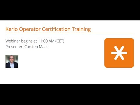 Kerio Operator Certification Training - YouTube