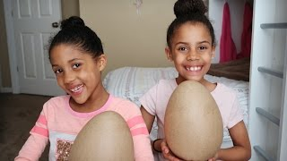 Decorating Giant Easter Eggs | TheBaileySisters