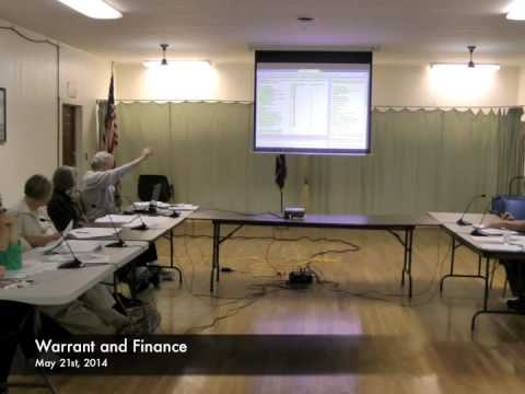 Warrant and Finance - 05-21-2014