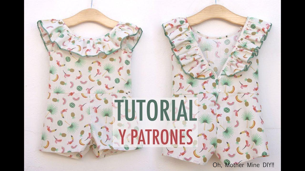 Aprender a coser: mono para niña (patrones gratis hasta talla 8 años ...