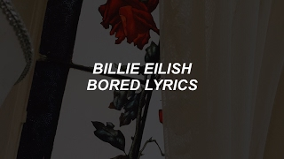 Gambar cover bored // billie eilish lyrics