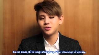 [Vietsub] Interview - Yoseob (Message) - On The First Collage Album