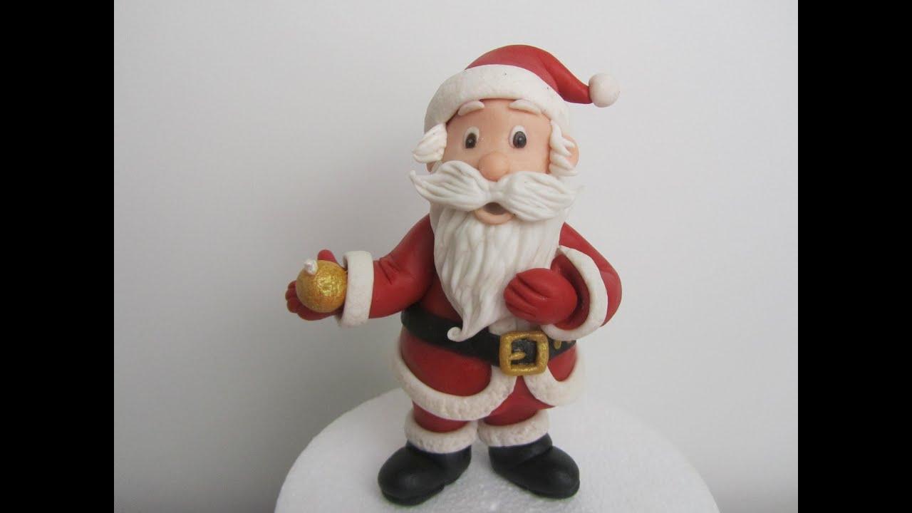 Babbi Natale.Come Fare Babbo Natale In Pasta Di Zucchero Tutorial Youtube