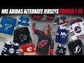 NHL Adidas Alternate Jerseys Ranked 1-25
