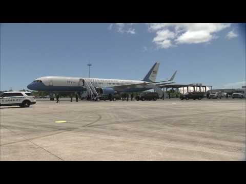 Vice President Pence Arrives for Visit at NASA's Kennedy Space Center