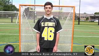 Matthew Ryan Lacrosse College Showcase Video