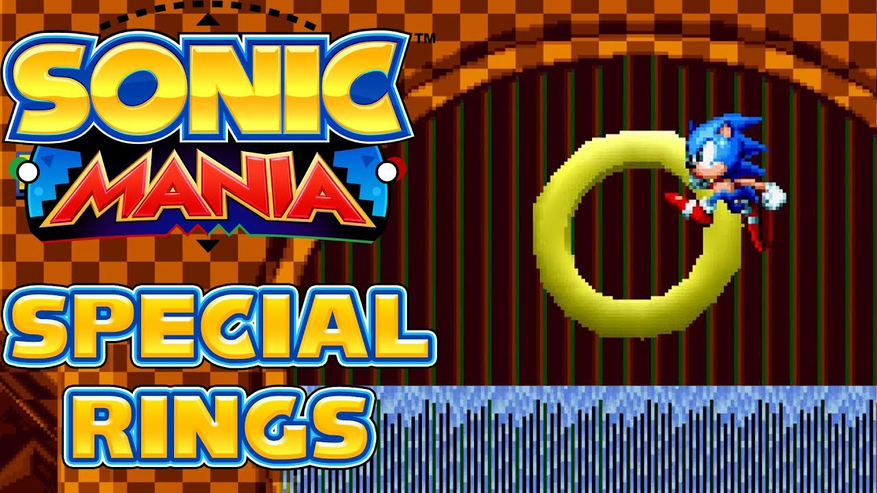 Sonic Mania - 5 Special Stage Rings in Green Hill Zone