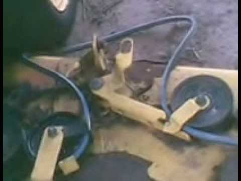 John Deere Mower Deck Belt Replacement  YouTube