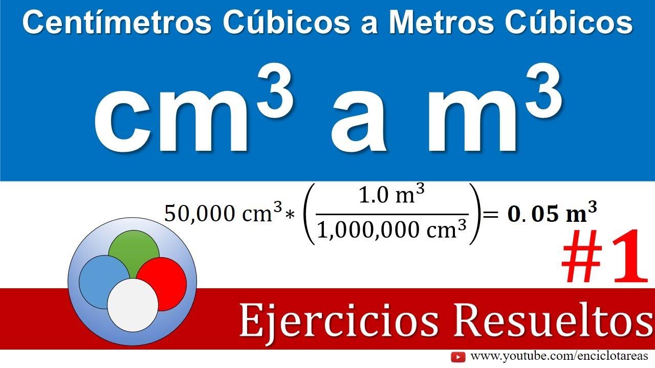 Centímetros Cúbicos a Metros Cúbicos (cm3 a m3) - YouTube