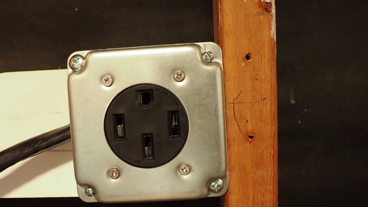 How To Install Nema 14 50 Outlet For Tesla Model 3 Electric Car Under 50 Youtube