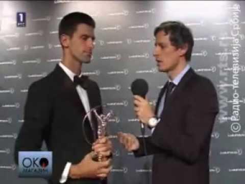 Aleksandar Stojanovic postavlja pitanje Novaku Djokovicu
