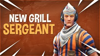 NEW GRILL SERGEANT SKIN GAMEPLAY FORTNITE.