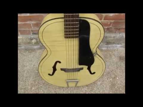 1958 Harmony H1214 Archtone F-Hole Archtop Acoustic Guitar