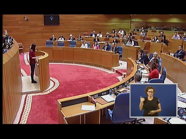 Olalla Rodil rebate a intervención de Manuel Tellado do PP no debate das propostas de resolución.