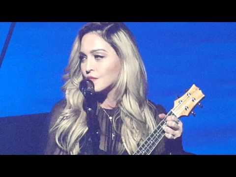 Madonna sings La Vie en Rose live  January 9, 2016