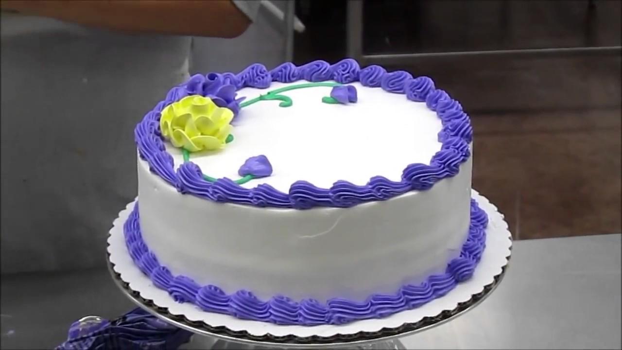 Lady Making a Birthday Cake - YouTube