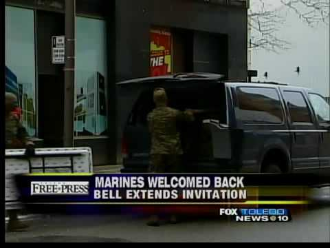 Mayor Bell invites Marines back to Toledo