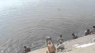 India, Varanasi bathing in Ganges