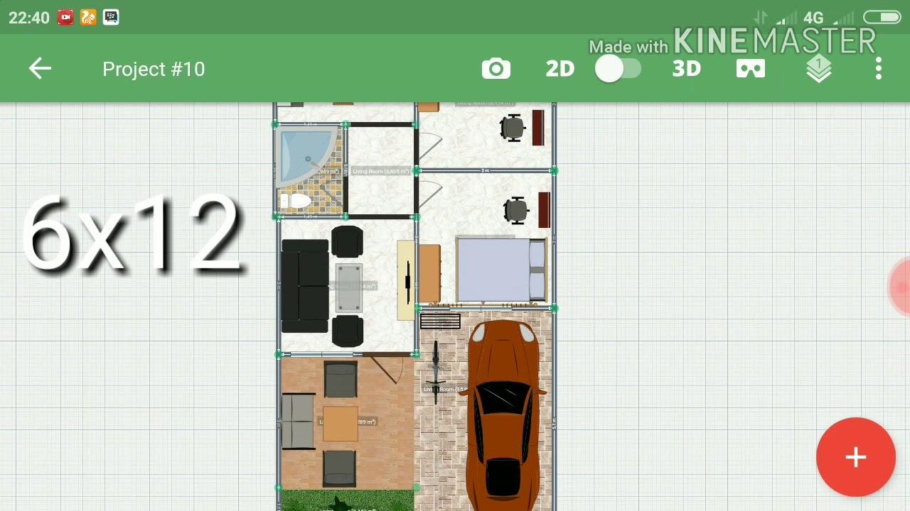 Desain Rumah 6x12 Dengan Garasi Dan 2 Kamar Tidur