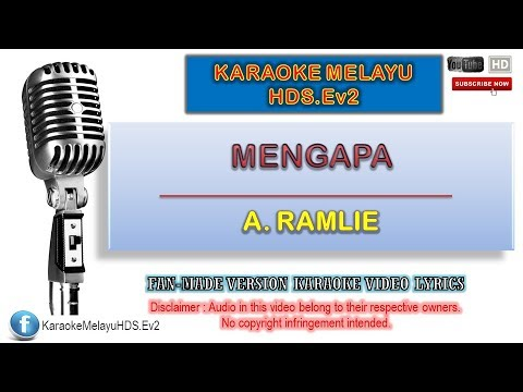 A. Ramlie - Mengapa | Karaoke Minus One | Lirik Video HD