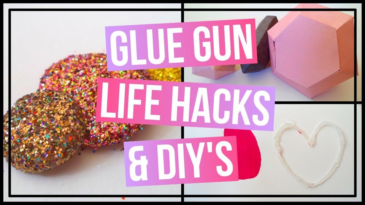 7 Glue Gun Life Hacks & Glue Gun DIY's | DIY Pixie Stones, DIY Glue  Stencil, & DIY Paper Gems