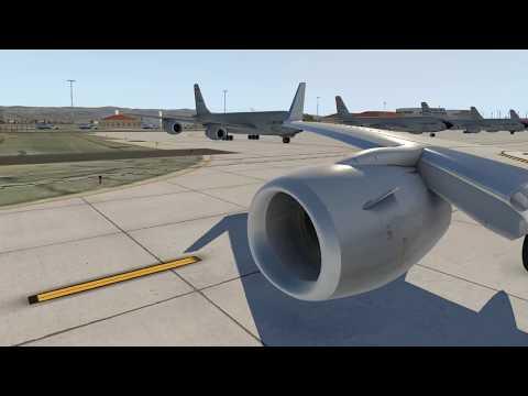 X Plane 11 Military SAM Flight (KPHX) AZANG to (KLSV) Nellis AFB