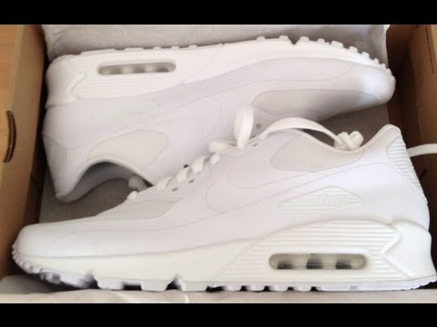 nike id air max 90 hyperfuse white
