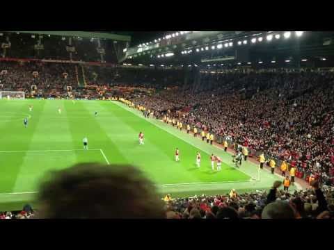 Manchester United 2-1 Anderlecht Rashford crowd view