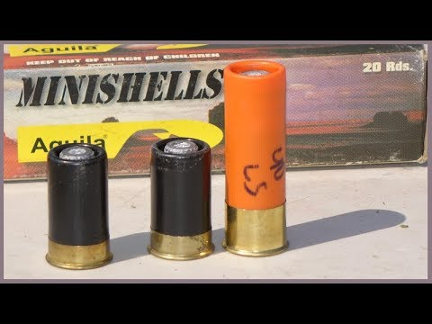 Aguila MINISHELL Tiny Shotgun Slugs – Ballistic Testing (correction)