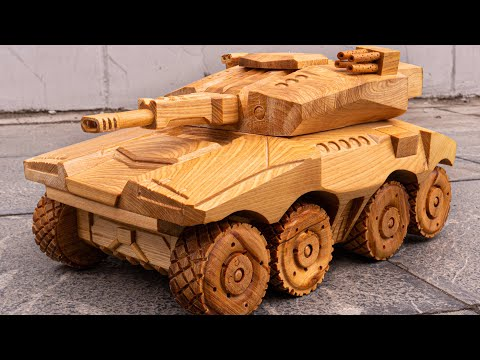 40 Days Process Crafting Super Tanks For His Son – Amazing Woodworking Project