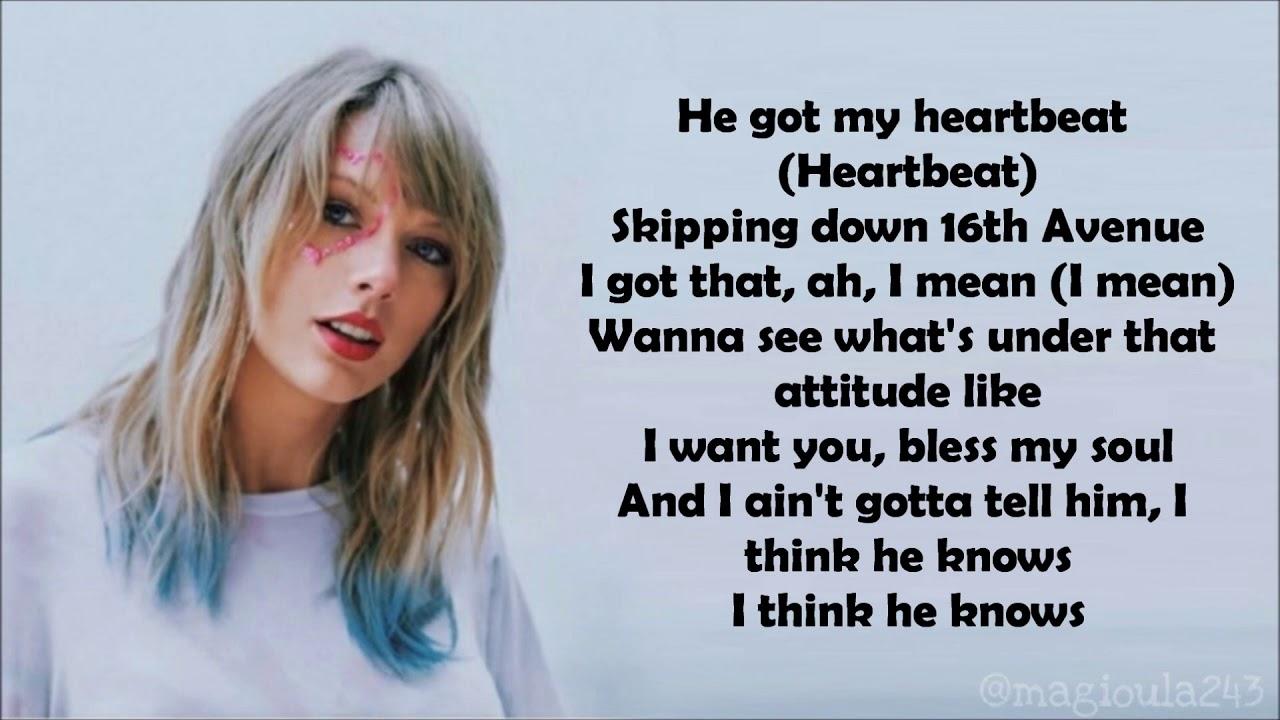 Download Taylor Swift - I Think He Knows (Lyrics)