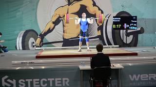 Максим Волков. Толчок, 2 подход – 163 кг. «Железная Лига Гераклиона-2018»