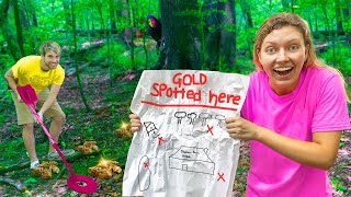 SEARCHING for MISSING GOLD TREASURE in SHARER FAM BACKYARD!! (How Much Is There?)