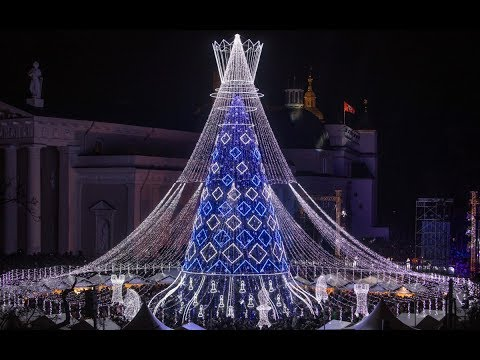 Lithuania. Vilnius. Christmas tree 2020. One of the Most Beautiful in the World