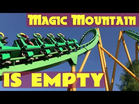 Exploring an EMPTY Six Flags Magic Mountain | Best time to visit with no lines!