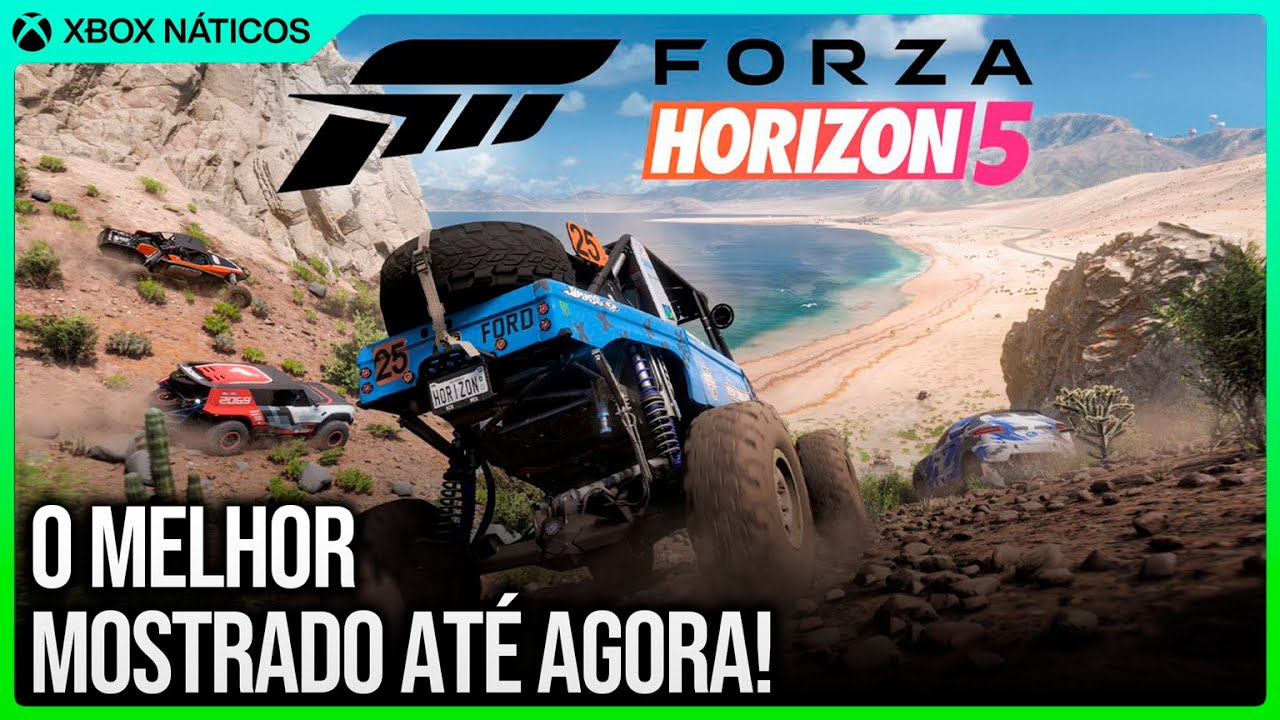Forza Horizon 5 na E3 Xbox - Foi a coisa mais IMPACTANTE mostrada