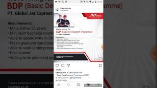 Lowongan Kerja Terbaru J&T Express