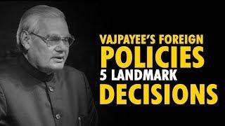 Atal Bihari Vajpayee's foreign policies; 5 landmark moments