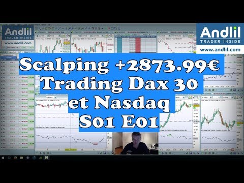 Scalping +2873.99€ Trading Dax 30 et Nasdaq # S01 E01 Andlil