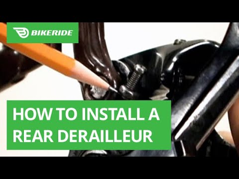 How to Install a Rear Derailleur (with Video) | BikeRide