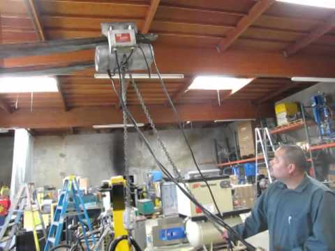 CM Lodestar 2 Ton Electric Chain Hoist w/ Trolley Model R 115V 1hp