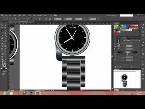 How to Create a Wrist watch in Adobe illustrator