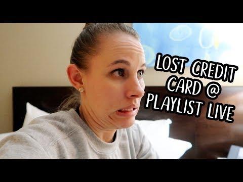 LOST CREDIT CARD AT PLAYLIST LIVE | Britt Renee