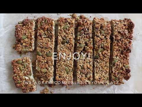 Oat + nut bar recipe by Kathy (@balanceyourplate)